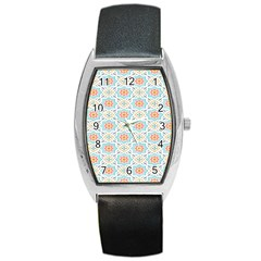Star Sign Plaid Barrel Style Metal Watch by Mariart