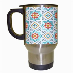 Star Sign Plaid Travel Mugs (white) by Mariart