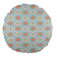 Star Sign Plaid Large 18  Premium Round Cushions by Mariart