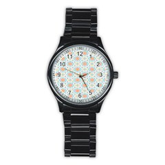 Star Sign Plaid Stainless Steel Round Watch by Mariart