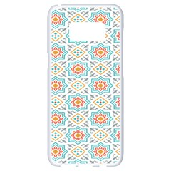 Star Sign Plaid Samsung Galaxy S8 White Seamless Case by Mariart