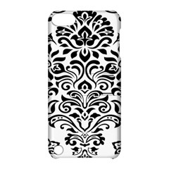 Vintage Damask Black Flower Apple Ipod Touch 5 Hardshell Case With Stand by Mariart