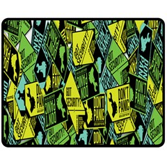 Sign Don t Panic Digital Security Helpline Access Fleece Blanket (medium)  by Mariart
