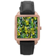 Sign Don t Panic Digital Security Helpline Access Rose Gold Leather Watch  by Mariart