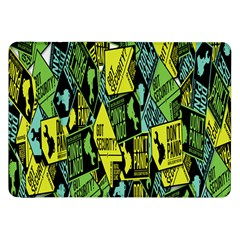 Sign Don t Panic Digital Security Helpline Access Samsung Galaxy Tab 8 9  P7300 Flip Case by Mariart