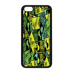 Sign Don t Panic Digital Security Helpline Access Apple Iphone 5c Seamless Case (black) by Mariart