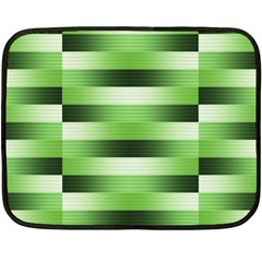 View Original Pinstripes Green Shapes Shades Fleece Blanket (mini) by Mariart