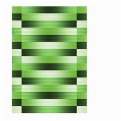 View Original Pinstripes Green Shapes Shades Large Garden Flag (two Sides) by Mariart