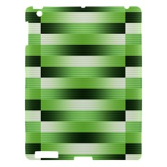 View Original Pinstripes Green Shapes Shades Apple Ipad 3/4 Hardshell Case by Mariart