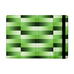 View Original Pinstripes Green Shapes Shades Apple Ipad Mini Flip Case by Mariart
