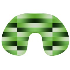 View Original Pinstripes Green Shapes Shades Travel Neck Pillows by Mariart