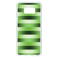 View Original Pinstripes Green Shapes Shades Samsung Galaxy S8 Plus White Seamless Case