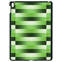 View Original Pinstripes Green Shapes Shades Apple Ipad Pro 9 7   Black Seamless Case by Mariart