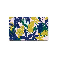 Tropics Leaf Yellow Green Blue Magnet (name Card) by Mariart