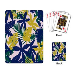 Tropics Leaf Yellow Green Blue Playing Card by Mariart