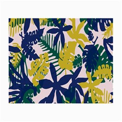 Tropics Leaf Yellow Green Blue Small Glasses Cloth (2 Side)