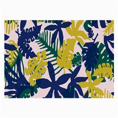 Tropics Leaf Yellow Green Blue Large Glasses Cloth by Mariart