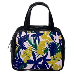 Tropics Leaf Yellow Green Blue Classic Handbags (one Side) by Mariart