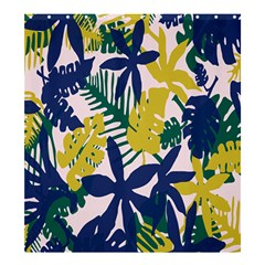 Tropics Leaf Yellow Green Blue Shower Curtain 66  X 72  (large)
