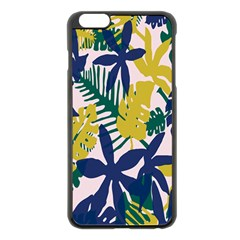 Tropics Leaf Yellow Green Blue Apple Iphone 6 Plus/6s Plus Black Enamel Case by Mariart