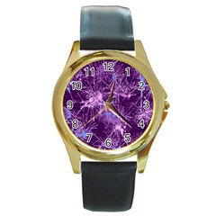 Color Fun 03c Round Gold Metal Watch by MoreColorsinLife