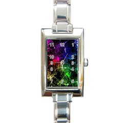 Color Fun 03b Rectangle Italian Charm Watch by MoreColorsinLife