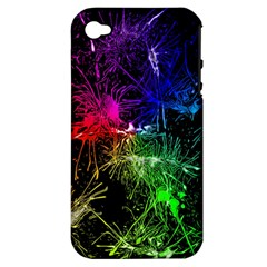 Color Fun 03b Apple Iphone 4/4s Hardshell Case (pc+silicone) by MoreColorsinLife