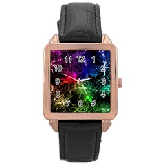 Color Fun 03b Rose Gold Leather Watch  by MoreColorsinLife