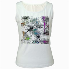 Color Fun 03f Women s White Tank Top by MoreColorsinLife