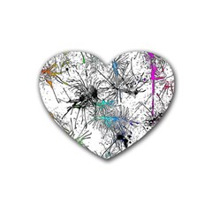 Color Fun 03f Heart Coaster (4 Pack)  by MoreColorsinLife