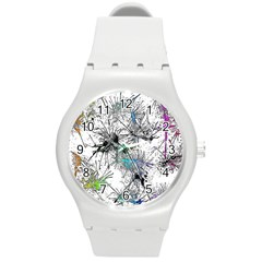 Color Fun 03f Round Plastic Sport Watch (m) by MoreColorsinLife