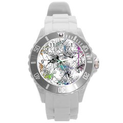 Color Fun 03f Round Plastic Sport Watch (l) by MoreColorsinLife