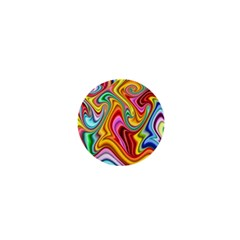 Rainbow Gnarls 1  Mini Buttons by WolfepawFractals