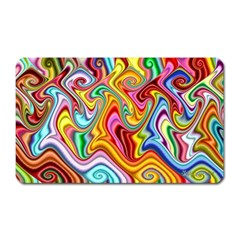 Rainbow Gnarls Magnet (rectangular) by WolfepawFractals