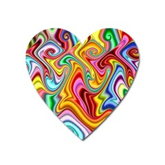 Rainbow Gnarls Heart Magnet by WolfepawFractals