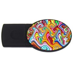 Rainbow Gnarls Usb Flash Drive Oval (4 Gb)
