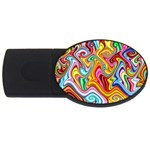 Rainbow Gnarls USB Flash Drive Oval (4 GB) Front
