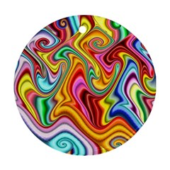 Rainbow Gnarls Round Ornament (two Sides) by WolfepawFractals