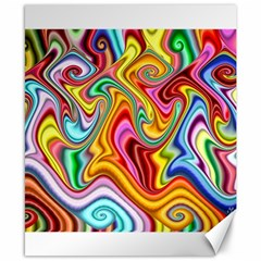 Rainbow Gnarls Canvas 8  X 10  by WolfepawFractals