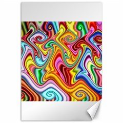 Rainbow Gnarls Canvas 12  X 18   by WolfepawFractals