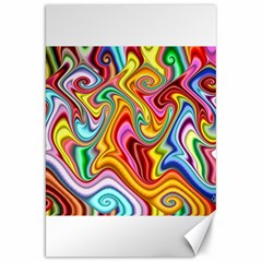 Rainbow Gnarls Canvas 20  X 30   by WolfepawFractals