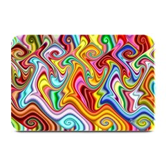 Rainbow Gnarls Plate Mats by WolfepawFractals