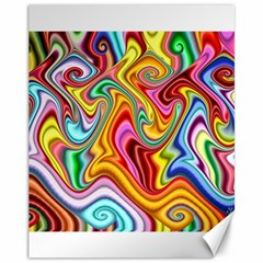 Rainbow Gnarls Canvas 11  X 14   by WolfepawFractals