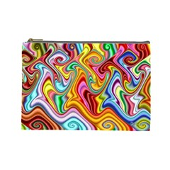 Rainbow Gnarls Cosmetic Bag (large)  by WolfepawFractals