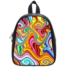 Rainbow Gnarls School Bags (small)  by WolfepawFractals