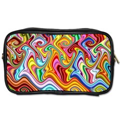 Rainbow Gnarls Toiletries Bags 2 Side by WolfepawFractals