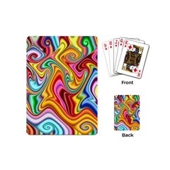 Rainbow Gnarls Playing Cards (mini)  by WolfepawFractals
