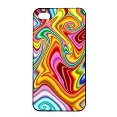 Rainbow Gnarls Apple Iphone 4/4s Seamless Case (black) by WolfepawFractals