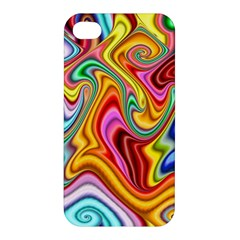 Rainbow Gnarls Apple Iphone 4/4s Hardshell Case by WolfepawFractals