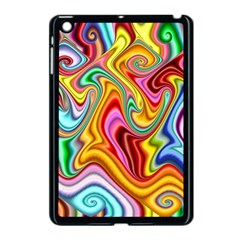 Rainbow Gnarls Apple Ipad Mini Case (black) by WolfepawFractals